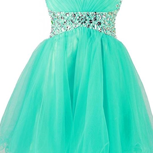 A Line Beaded Short Prom Dress Formal Party Homecoming Dresses