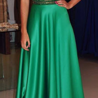 Charming Prom Dress,Satin Prom Dress,A-Line Prom Dress,Beading Evening Dress